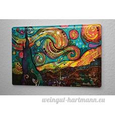 Plaque émaillée Feng Shui Image Couleurs - B06WWQRW99