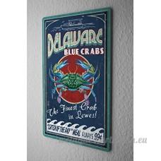 Plaque émaillée Cuisine Crabe Delaware - B06WW46CC9