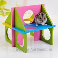 Maison hamster bois Nichoir Jeu Amusement Relax Gym pour Hamster hamsters - B01N1Z92P5