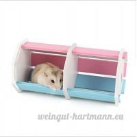 Moonpet Pet Petits Animaux Habitat Cachette de nidification–Living Habitat pour Nain Hamster et souris - B01MT5LBA5