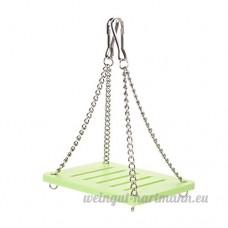 Zaote balançoire en bois Sport exercice jouet pour rat Hamster souris - B071S49MM7