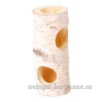 Journal de bouleau Hamster  gerbille  petits rongeurs Cachette Cachette de 20cm de haut avec trous - B00NU3205M