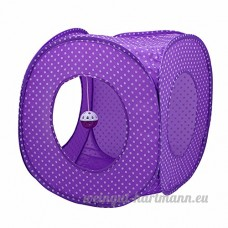 CWDYP Animal de compagnie_tente pliante tente Pet Dog Cat Pussy Cat House Maison de la litière pour chat moustique ne tente point 39*39*39 Violet - B07BTM9D6B