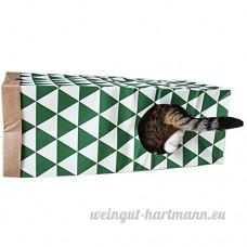 Etbotu Cat Jouets interactifs pliable Grande taille sac de papier Kraft Tunnel avec seconde entrée fenêtre pour animal domestique Chat - B07BFXV9M6