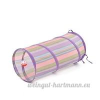 CSNMALL Jouet Multifonctionnel De Tunnel De Chat Multi-couleur Facultatif Léger Et Facile À Rassembler ( Color : Violet ) - B07BFVC1DP
