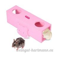 awhao Hamster Balançoire à Bascule Jouet Tunnel pour Chinchillas Petits Animaux de Compagnie (Rose) - B078Y5DG3P