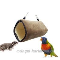UEETEK Hamac pour petit animal de compagnie  Hanging Peluche Snuggle Tunnel Warm Cave Hut pour Hamster Squirrel Chinchilla cobaye  22 x 11 x 11cm (L xlxh) - B0771QF58G