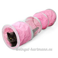 Respirant Pet Tunnel Pliable Animaux Jouet Tube pour Chat Chiot Chaton Lapins Chien Beetest® - B0754FZJ5H