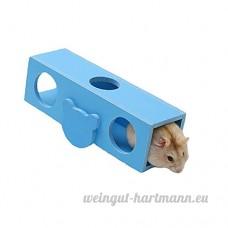 Petits animaux Seesaw Tunnel Escalade Jouet pour Hamster et Chinchillas et Cobayes Drôles Jouets Jouer Jouets Jouet à Mâcher Petite Cage Animale par Awhao Bleu - B071H7PVJR