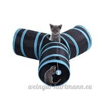 Cat Tunnel Jouet 3 Way Fun Run Pour garder Kitty Entertained Exercice et jeux Jouable et économiseur d'espace par Awhao - B06XSF3P15