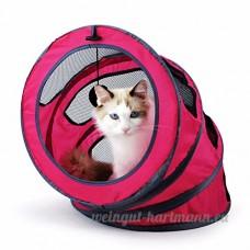 CWDYP Jouet chat de compagnie retractable tunnel chat de stockage en option couleur multi-canal de chat jouet pour chat rose pet - B07BTPMYW4