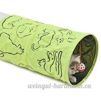 CSNMALL Jouet Multifonctionnel De Tunnel De Chat Multi-couleur Facultatif Léger Et Facile À Rassembler ( Color : Green ) - B07BFTWYY7