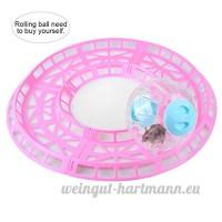 Petacc Plastique Hamster jouet d'exercice pratique Hamster d'entraînement Runway Cute Hamster Run Toys  convient pour hamster et autres Entreprises Pets  Rose - B079G5VKNK