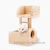 baby intelligence 1 PC Échelle Jouets Mignon Nid Petit Escalier Jouet Hamster Lookout Pet En Bois Nid Maison Villa Échelle - B0791B4CJ3