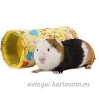 zuckerti naturel jouet Tunnel Raschel Tunnel Roseau Maison Nest Grotte pour hamster Rongeur Cochon d'Inde Rats Petit Rongeur petits animaux lapin lapin avec neuf trigonal Design - B01MZIUUCE