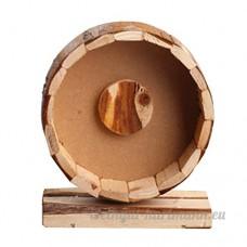 Omem Petits Animaux d'exercice Roues Fournitures ultra-silencieux Hamster exercice Roues faite à la main en bois Jouet - B01MXSZ32K