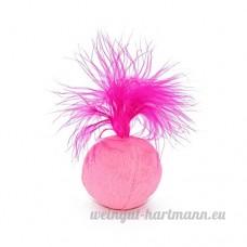 Hanyia Balle Sonore Jouet pour Chats Ajouter Herbes a Chat Tissu en Douceur avec Plume Colore pour Chats Chaton - B07439N7J9