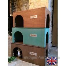 Maison de cochon d'Inde en bois  40 cm de long x 20 cm de large x 18 5 cm de haut  prête à l'emploi - B01AR0J15W