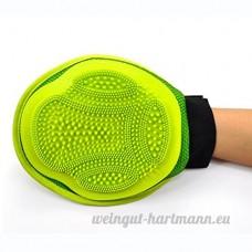 TY-JXSM PT-45 Gant de Toilettage Massage Brosses de nettoyage animaux de compagnie Respirant Anti-statique Avec Velcro Parfait pour les chiens et les chats Nettoyage et massage (Couleur : Vert) - B07D12PBVB