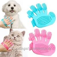 Gemini_mall® Gant de toilettage  brosse démêlage Gant Pet Hair Remover Gant de massage Outil avec cinq doigts Motif–Idéal pour chiens et chats à poils longs et courts  couleur aléatoire - B07CM26PZT