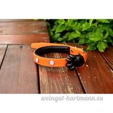 juxinuk 1pc LED Nylon Pet collier de chien collier de nuit LED Light-up clignotant Glow dans l'obscurité (L  Orange) - B0796SHPQ5