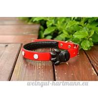 juxinuk 1pc LED Nylon Pet collier de chien collier de nuit LED Light-up clignotant Glow dans l'obscurité (L  Rouge) - B0796S69XV