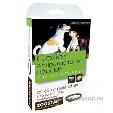 Zoostar Collier Antiparasitaire Repulsif Aux Actifs Naturels Pour Chiot Et Petit Chien Moins De 10kg 35cm - B01MY6YI4R