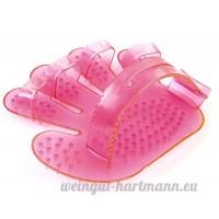 OHA-Pet gant de toilettage pour chien  chat & Lapin Rose * lavable  Taille universelle  plastique de qualité * GANT pour chien - B01G9F8TQG