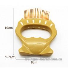 WENXX Peigne De Coquillage Pour Animaux De Compagnie  Brosse En Nylon Élastique Massage Pour Enlever Les Poils (Paquet De 2) Orange - B07DMHXMZG