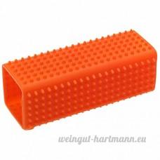 2 pcs chien chiot Chat baignoire sabot pinceau doux cheveux épilation Outil orange - B077N9VSD3