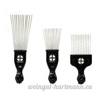 Frcolor 3pcs Pick Coloration de cheveux Peigne en métal avec poignée de poing pour le volume et démêlage Cheveux - B07DFH1VRG