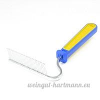 Sourcingmap Râteau Style Toilettage mue pour chien et chat Peigne Outil  Bleu/jaune - B00E1F38UO