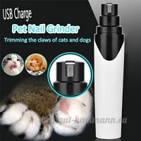 Pet Nail Moulin chargement USB  peu de bruit Woopower batterie en douceur sans douleur Moulin Paws Indolore électrique/tondeuse/tondeuse pour chiens  chats  facile d'utilisation - B076DZJ1Z1
