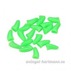 Erthome 20pcs pour animal domestique Chien Chat Toilettage doux à ongles Griffe caches avec housse PVC adhésif Colle - B0756ZZLYS