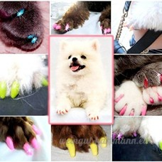 SSize Multi-colorName souple de chien Nail Caps Claw Contril Paws Off - B01C8A2X7W