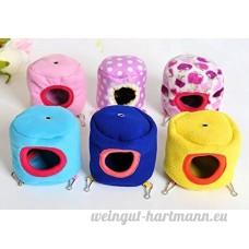 Kamoku1011pcs Cute Hamster Hiver chaud Cottat Hamac jouet pour animal domestique Rat Hamster Lit Cage pour petit animal (couleur aléatoire) - B076NGTH9C