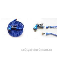 NEW env. 75ft Tuyau d'arrosage extensible jardin Tuyau d'arrosage avec connecteurs Embout Pistolet léger flexible extensible - B00WGCIOTY