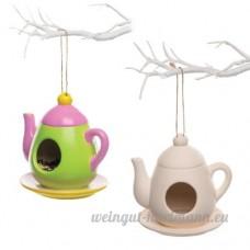 Baker Ross Mangeoires à oiseaux en céramique en forme de théière pour enfants  parfaites pour les loisirs créatifs et les décorations pour enfants (Lot de 2) - B078WRXCNV
