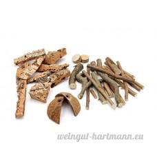 Vogelgaleria aufregender Stix de litière Mix et Expérience en Noisette Grignoteuse bois  liège  fibres de coco pour hamster  lapins  cochons d'Inde  chinchilla & Co. - B01L65I252