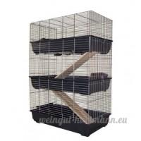 Cage Pour Rongeurs à 3 Etages 100cm Pour Lapins Ou Cobayes - B0011KYDGK