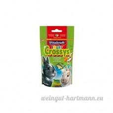 Vitakraft Fruit Crossys Lapins traité (50g) (Lot de 4) - B01LZNTFTK