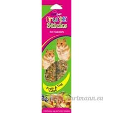Linkpet Fruitti clés pour les hamsters–Salade de fruits et légumes–130g/m² - B013C4SEZ8
