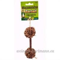 Ware de fabrication en osier tressé Naturel pour petit animal Barbell jouet à mâcher  petite - B00494NETW