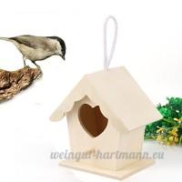 Xshuai 10x 9cm en bois Maison d'oiseau  DE nouveaux Nest Dox Nest House Bird House Bird House Nichoir Bird Boîte Boîte en bois Size: approx. 10x9cm kaki - B07D7WBT75
