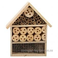Bug Hôtel Maison à Insectes en Bois Jardin Abri en bois toit couleur naturelle  Bois dense  Bois naturel  Meduim 3 Stories (26 x 28.5) - B01J699TZ2