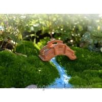 Compact Fairy Garden Bambou Forme pont Ornement Arch Bridge pour bonsaï Paysage Décor (Taille M) - B07CSQP6WV