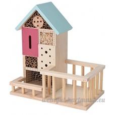 Bois Hôtel à insectes abeilles/Bug Boîte Maison/hôtel/abri bleu pastel - B078JYL99H