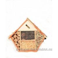Hôtel à insectes «pEPPI «bois et matériaux naturels 10 x 38 x 44 cm - B00XPP2E3I
