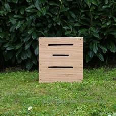 Hôtels à insectes  le petit cube papillons  hôtel à insectes en bois massif pour insectes auxiliaires du jardin - Fabrication artisanale Française - B06XRYLQL3
