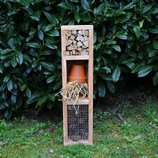 Hôtels à insectes  la tour 3 places  hôtel à insectes en bois massif pour insectes auxiliaires du jardin - Fabrication artisanale Française - B06XRXNBPF